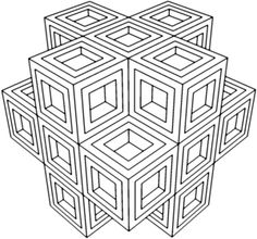 Geometric Coloring Pages For Adults - AZ Coloring Pages | Geometric ...