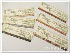 LEAFの「手作りカード」な暮らし。/ 手作りペーパーアイテムのお店「LEAF SHOP」-手作りタグ作り方4紙を合わせる