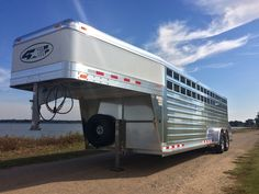 "4-Star 24' Stock Trailer 7' wide x 6'6"" tall"