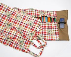 FashionArts estojo de rolo para 75 lápis de cor + 1 apontador