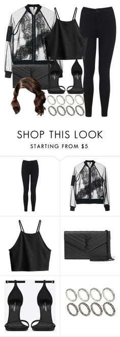 """Style #10886"" by vany-alvarado ❤ liked on Polyvore featuring Miss Selfridge, Topshop, H&M, Yves Saint Laurent and ASOS"