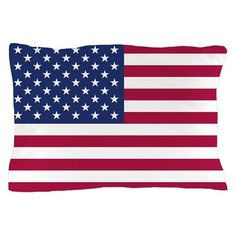 American Flag Pillow Case on CafePress.com