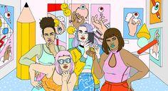 Nos intimidan y nos flipan las chicas dibujadas por Laura Callaghan, tan pop, tan cómic, tan recargado, tan TAN.               — LAURA CALLAGHAN Laura Callaghan Instagram