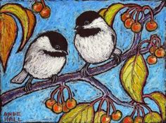 Chilly Crabapple Chickadees - Ande Hall