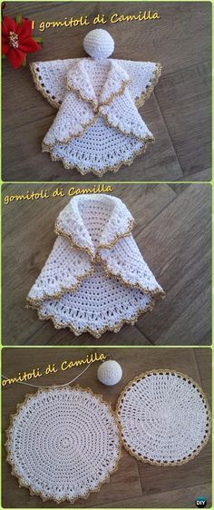 Crochet Decorative Angel from Rounds Free Pattern - Crochet Angel Free Patterns
