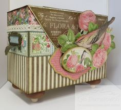 Botanical Tea - Easel Top Box by Lyn Bernatovich #graphic45