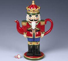 Nutcracker teapot::How adorable!