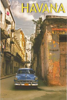 Now you can visit Cuba for real! A great poster for any lover of Cuban culture. Published in 2010. Fully licensed. Ships fast. 24x36 inches. Check out the rest of our great selection of Cuba posters!