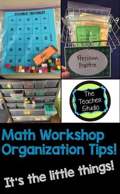 The idea of math workshop is great...it's a wonderful idea to try to provide work for students at differing levels.  HOW do we organize it all?  Here are a few tips to get you started!