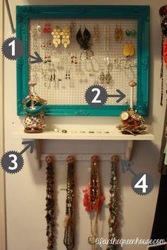 jewelry organization DIY