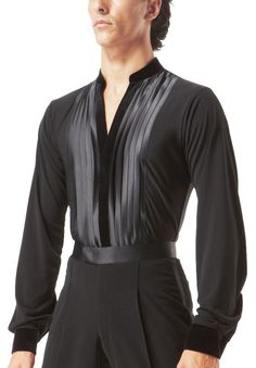 Taka Mens Latin Shirt MS212  Dancesport Fashion @ DanceShopper.com