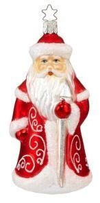 Inge's Christmas Decor Classic Santa Frost Ornament #ad #christmas #gifts