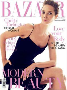 Hallo, January – this month's newsstands Harper's Bazaar UK January 2014 - Christy Turlington | Fash Mob
