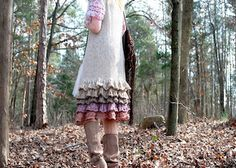 a gypsy petticoat with lots of ruffles