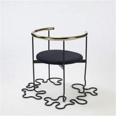 Nirvana Chair, designed by Shigeru Uchida - photo from interieurites ...looks like yarn or spaghetti on the floor...