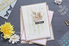 Geburtstagskarte in vier Farben - Farngrün