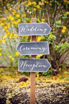 Cute wedding signage