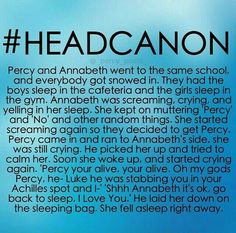 Percy Jackson and Annabeth Chase Headcanon