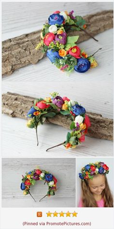 The Effective Pictures We Offer You About ukraine flowers folk art A quality picture can tell you ma Flower Girl Wreaths, Flower Crown Bride, Flower Tiara, Flower Girl Headbands, Floral Headbands, Floral Crown, Big Flowers, Fabric Flowers, Bridesmaid Flowers