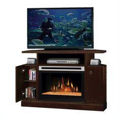 dimplex corner electric fireplace tv stand