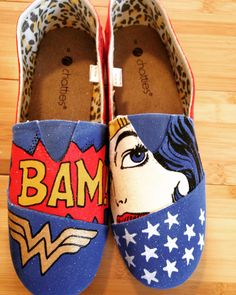 3806138eb1 Wonder Woman custom shoes! Affordable prices. Shipping available! Order  from Bella Lace Boutique www.facebook.com bellalaceboutique.