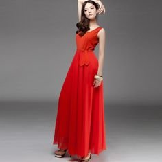 red summer dresses for women | ... -Summer-Women-Red-Long-Dress ...