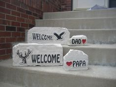 Limestone rock signs custom garden art,verses gifts military pride,  pet memorials, college , sports, personal names and business signs