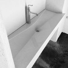 Floating Concrete sink by Concrete Works Bermuda. Concrete Sink, Bathtub, Standing Bath, Bathtubs, Bath Tube, Bath Tub, Tub, Bath