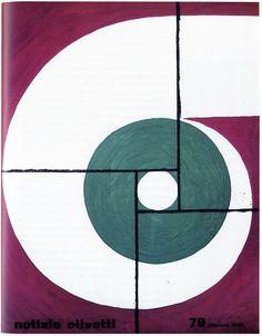 1963 Cover for Notizie Olivetti magazine by Giovanni Pintori