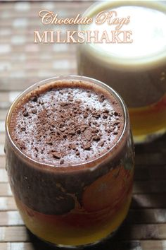 YUMMY TUMMY: Ragi Chocolate Milkshake - Finger Millet Chocolate Smoothie Recipe