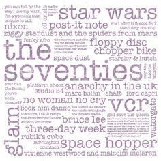 40th Birthday Gift - Milestone Birthday - Birthday Print - Typographic Print - Typography Poster - Word Art - 1974 Birthday - The Seventies