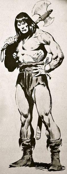 Conan, by John Buscema Comic Book Artists, Comic Book Characters, Comic Artist, Comic Books Art, Marvel Comics, Conan Comics, Anime Comics, Conan The Barbarian Comic, Conan The Conqueror