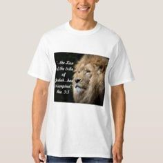 Shop Lion of Judah t-shirt created by Christiangiftsca. Christian Clothing, Christian Gifts, Christian Apparel, Lion Of Judah, Boys T Shirts, Fitness Models, Graphic Tees, Mens Fashion, Casual