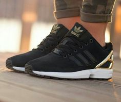 Black and gold adidas zx flux! Plain amazing!