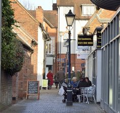 Shopping alley in Solihull, West Midlands