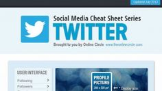 Click image to view entire infographic Click image to view entire infographic The team at The Online Circle have put together a list of. Social Media Cheat Sheet, Twitter S, Header Image, Interesting Reads, Cheat Sheets, User Interface, Knowledge, Technology, Digital