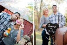 "A super cute ""Save the Date"" photo idea- use bubbles! By Shutterbug Photography & Design"