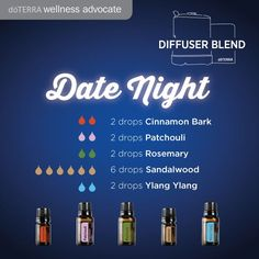 Looking for a spicey blend to diffuse tonight? Try this Date Night blend.