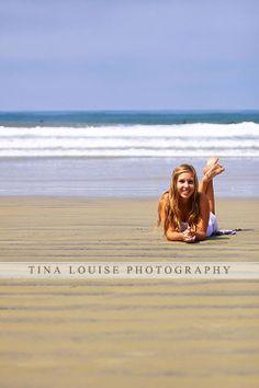 Girl Senior Portrait Beach Waves Sand La Jolla - Tina Louise Photography