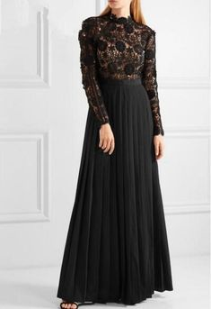 2016 Winter Style Fashion Self sp Female Clothing Slim Pleated Lace Embroidery Patchwork One-piece Dress Women Dress Full Dress