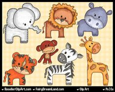 ZOO ANIMAL Clip Art: Zoo Animals Clipart Download, Elephant ...