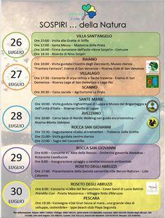 Dal 26 al 30 luglio in Abruzzo SOSPIRIdella natura