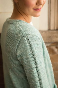 Look at these exquisite little details. Ravelry: Lace-Leaf Pocket Cardigan pattern by Quenna Lee