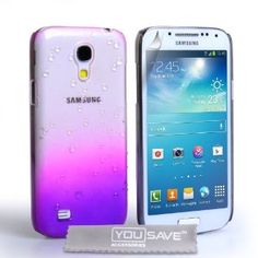 Amazon.com: Samsung Galaxy S4 Mini Case Purple / Clear Raindrop Hard Cover: Cell Phones & Accessories