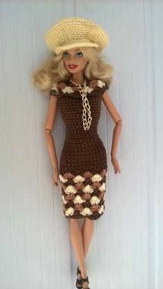Roupa para boneca barbie De croche