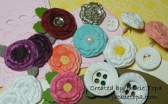 Simply Pressed Clay flowers tutorial