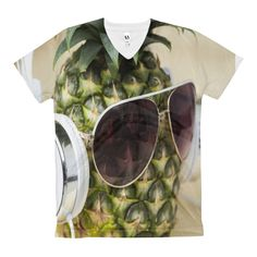 Just in: Women's V-Neck T-... and selling fast http://shopflexy.myshopify.com/products/womens-v-neck-t-shirt-pineapple-front-print?utm_campaign=social_autopilot&utm_source=pin&utm_medium=pin