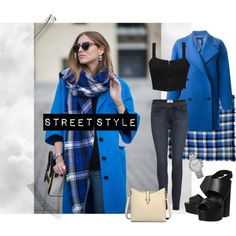 A fashion look from February 2015 featuring J.Crew coats, Piel Leather tote bags and Ink & Tailor scarves. Browse and shop related looks. Daily Fashion, Girl Fashion, Fashion Looks, Fashion Outfits, Street Chic, Street Style, Blue Color Combinations, The Blonde Salad, Blue Coats