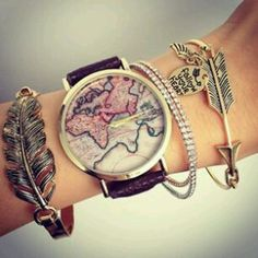 Tocona Bohemian Leaf Arrow Crystal Charm Bracelets Set Punk Chain Bracelet Bangle for Women Statement Jewelry 4887 Arrow Bracelet, Bracelet Set, Charm Bracelets, Jewelry Accessories, Fashion Accessories, Stylish Watches, Mode Style, Retro, Vintage Fashion