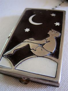 Vintage Art Deco Silver and Dark Brown Plastic by thepixelgirl, $80.00
